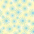 Vector background with snowflakes. - Stock Vector
