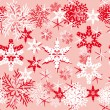 Abstract vector background with snowflakes. - Stock Vector