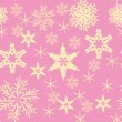 Vector background with various snowflakes. - Stock Vector