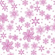 Seamless with snowflakes - Stock Vector