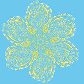 Flor abstracta vector aislada — Vector de stock