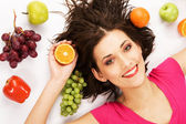Fruity girl — Stock Photo