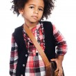 Beautiful stylish little girl — Stock Photo