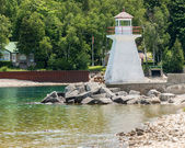 Lion's Head Lighthouse in Bruce Peninsula, Ontario, Canada — Stock Photo