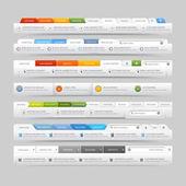 Elementos de navegação do site da web projeto modelo com conjunto de ícones — Vetorial Stock