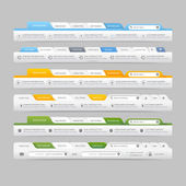Web site design menu navigation elements with icons set:Navigation menu bars — Stock Vector