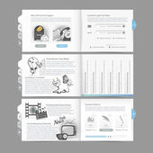 Website design menu navigation elements with icons set: Image slider — Stock Vector