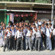 Schoolchildren. North India — Stock Photo