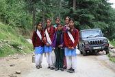 Schoolchildren. North India — Stock Photo