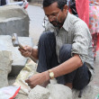 Street Sculptor. North India - Stock Photo