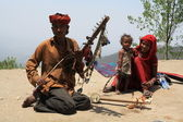 Street musicians. North India — Stock Photo