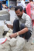 Street Sculptor. North India — Stock Photo