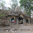 The ashram of Maharishi Mahesh Yogi in Rishikesh, North India - Stock Photo