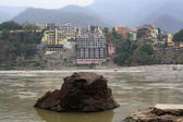 The city Rishikesh — Foto Stock
