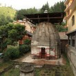 Vishnu temple in the village of Naggar North India - Stock Photo