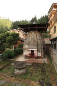 Vishnu temple in the village of Naggar North India — Stock Photo