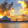 Sydney Harbour with Opera House and Bridge — Stock Photo #10948305