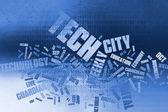Word cloud technology, Background concept — Stock Photo