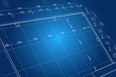 Blueprint background concept - vector in blue color — Stock fotografie