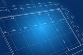 Blueprint bakgrund koncept - vektor i blå färg — Stockfoto