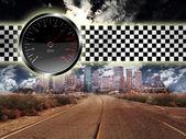 City car racing — Stock Photo