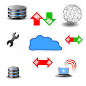 Database Icons Vector — Stock Photo