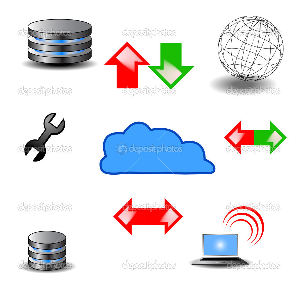 Database Icons Vector — Stock Photo #11849173