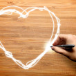 Hand drawing love — Stock Photo #12177579