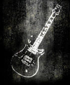 Electric guitar background — Stock Photo