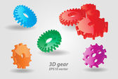 3D Technical Drawing, 3D Gear — Stock Photo