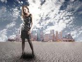 Girl, urban concept — Stock Photo