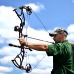 Portrait of a professional archer — Stock Photo