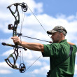 Portrait of a professional archer — Stock Photo #10756933