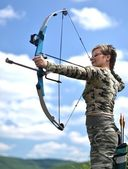 Archer with bow — Stock Photo