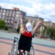 Stock Photo: Womin wheelchair