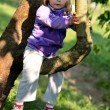 Stock Photo: Little girl on the tree