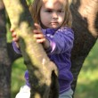 Royalty-Free Stock Photo: Little girl on the tree