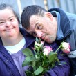 Couple with down syndrome - Stockfoto