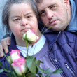 Couple with down syndrome — Stock Photo #10969535