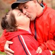 Down syndrome couple — Stock Photo #11029743