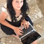 Gorgeous woman with laptop — Stock Photo #11371173