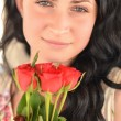 Stockfoto: Girl with flowers
