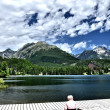 Beautiful Lake in High Tatras - Strbske pleso - Stock Photo