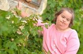 Woman with down syndrome — Stock Photo