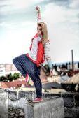 Ballerino di strada — Foto Stock