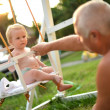 Baby swing - Stock Photo