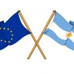 Постер, плакат: European Union and Argentina alliance and friendship