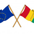 European Union and Guinea alliance and friendship — Stock Photo