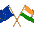 EuropeUnion and Indialliance and friendship — Stock Photo #11516013