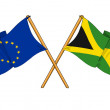 EuropeUnion and Jamaicalliance and friendship — Stock Photo #11516437